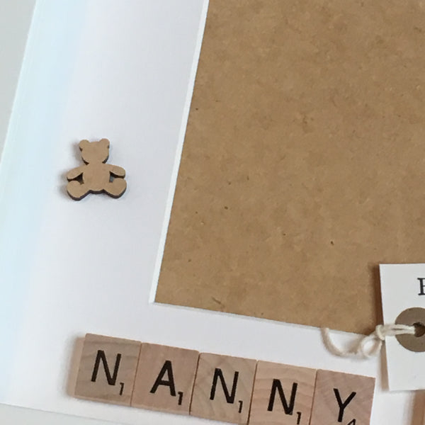 Pregnancy Announcement Scrabble Art Personalised Photo Frame