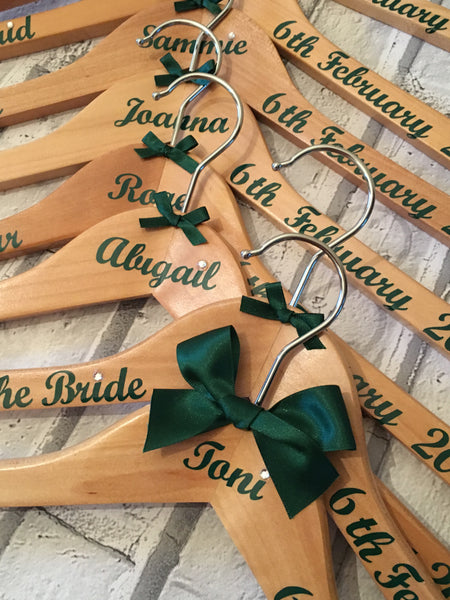 Wedding Hanger, Personalised Bridal Party Hangers. The finishing touch for that Magical Day.