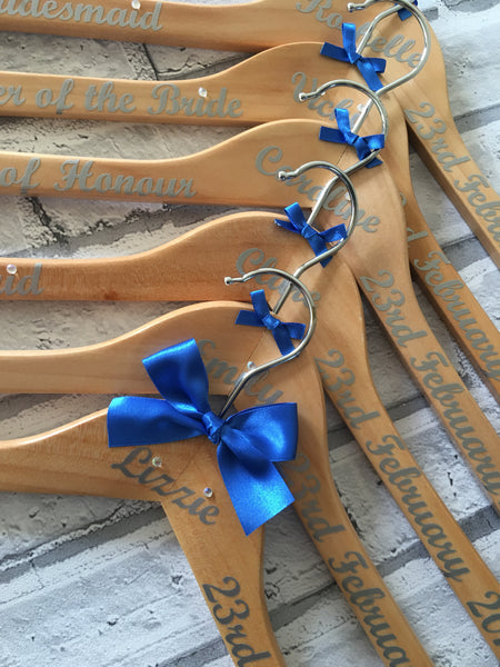 Personalised Bridal Party Hangers, Wedding Dress Hanger, Bridesmaid Hangers.