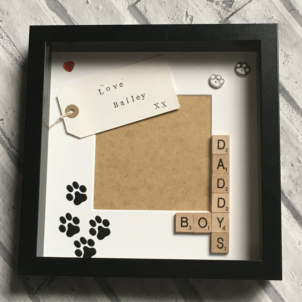 Daddy Son Frame, Daddy's Boy, Daddy's Boys, Father Friend, My Daddy, Personalised Scrabble Frame, Scrabble Art Frame, Scrabble Frame,