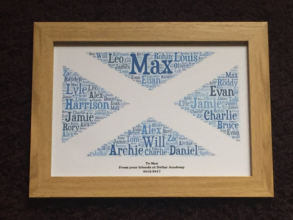 Teacher Typography Framed Print A4, Word Cloud Picture, Gifts for Her, Gifts for Him, Presents for Teachers, Personalised Prints. Word Art