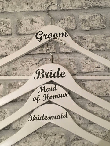 Role Only Wedding Hangers Set of Six, Wedding Dress Hanger, Bridesmaids Hangers, Wedding Photo Prop, Wedding Keepsake, Bridal Party Hangers, Brides