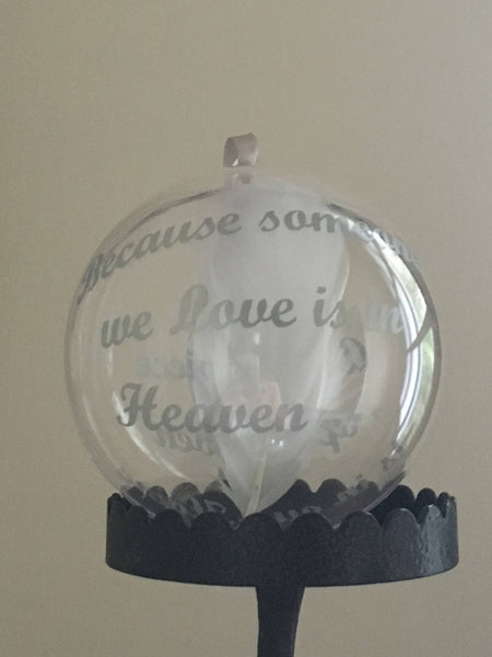 Christmas in Heaven Memory Bauble, Christmas Decoration, Christmas Ornament, Christmas Memorial Bauble, Heaven in our Home Bauble,Memory Bauble