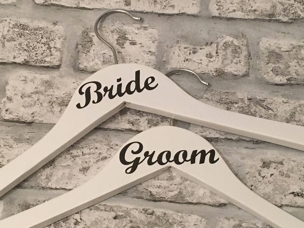 Wedding Hangers Set of Ten, Wedding Dress Hanger, Bridesmaids Hangers, Wedding Photo Prop, Wedding Keepsake, Bridal Party Hangers, Brides