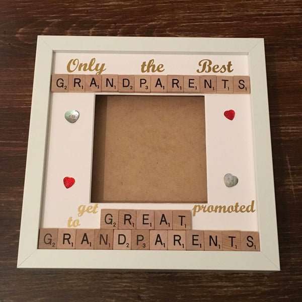 Grandparents Great Grandparents Scrabble Art Photo Frame, Only the Best