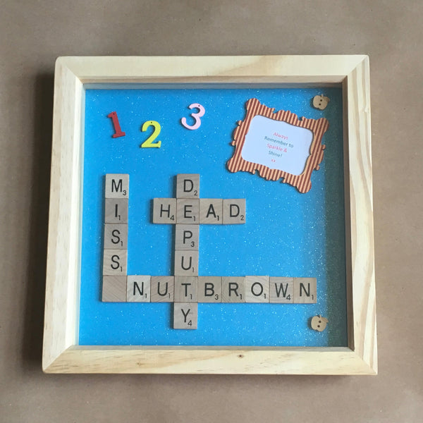Teacher Gift Scrabble Frame, Scrabble Art, Teacher, Teaching Assistant, Leaving School, Thank you