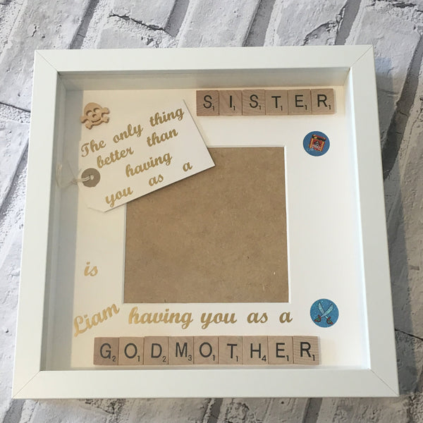 Godmother Friend Godmum Scrabble Art Photo Frame, The Only Thing Better Than Having You,Christmas Present,Godparent Gift,Christening