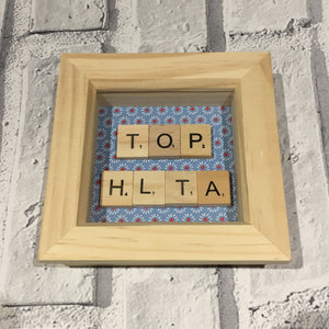Teacher Gift Scrabble Frame, Scrabble Art, Teacher, Teaching Assistant