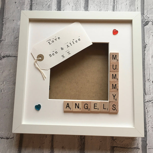 Mummy's Stars, Angels or Monsters, Personalised Scrabble Frame