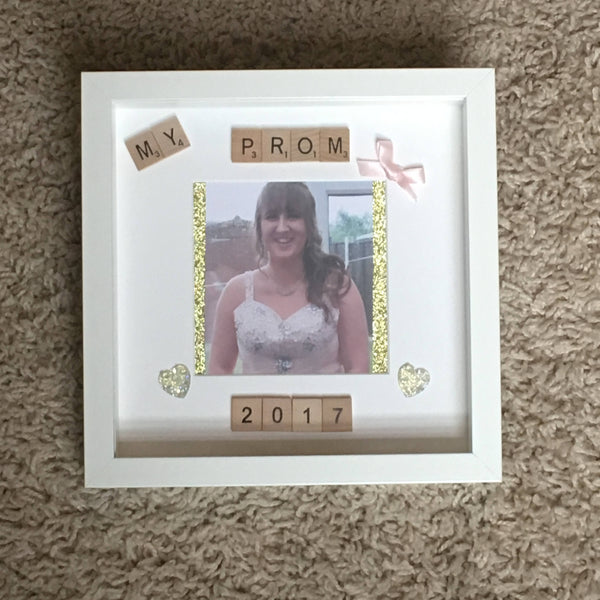 Prom Scrabble Art Photo Frame, Prom Frame, Personalised Scrabble Art Frame, Prom Picture Frame, Prom Photo Frame, Scrabble Frame
