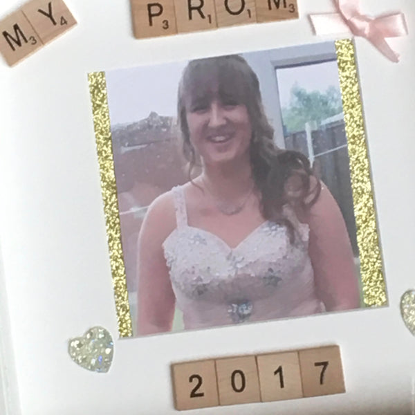 Prom Scrabble Art Photo Frame, Prom Frame, Personalised Scrabble Art Photo Frame