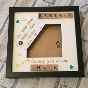 Uncle Brother Scrabble Art Photo Frame, The Only Thing Better Than..., Gifts for Him, Christmas Present, Birthday Gift