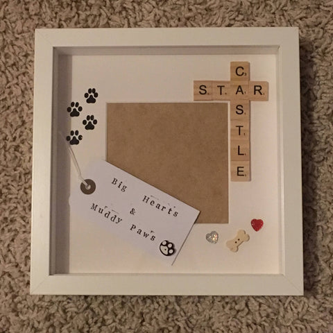 Pet Daddy Frame, Pet Mummy Frame, Fur Babies Frame, Animal Love Frame, Scrabble Art Frame, Pet Photo Frame, Personalised Pet Photo Frame