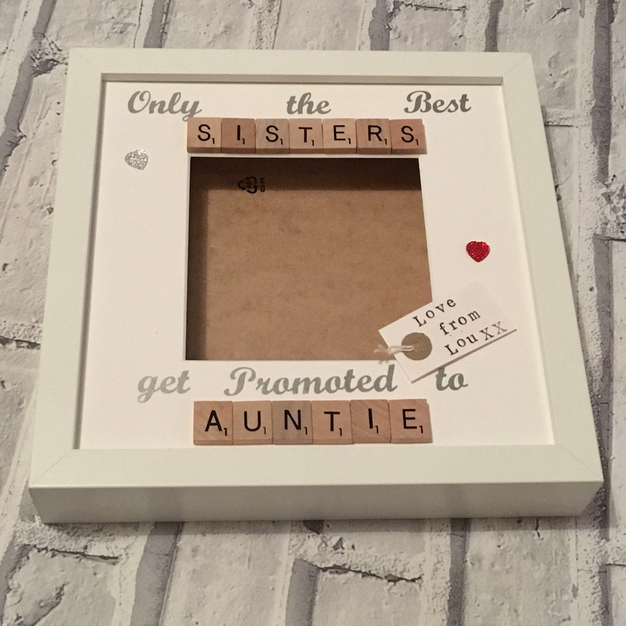 Best Sister Aunty Scrabble Art Photo Frame.
