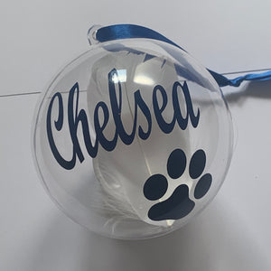 Pet Loss Memory Christmas Tree Bauble, Memorial Christmas Tree Ornament
