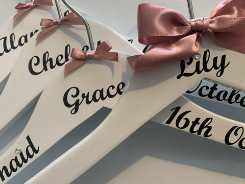 Personalised Wedding Hanger, Personalised Bridal Party Hangers