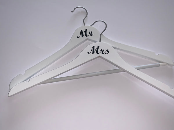 Wedding Hangers Set of Two, Couple Gift, Wedding Gift, Wedding Present, Bridal Shower Gift, Humorous Gift, Bride and Groom, Gay Wedding