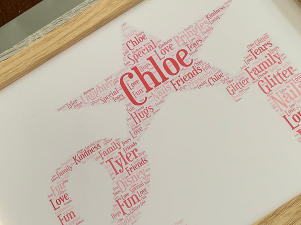 Special Age Typograpgy Word Art A4 Framed Print