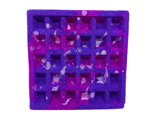 waffle, waffle bath bomb, vibrant bath bomb, colourful bath bomb, extra large bath bomb, a heavy large colourful waffle bath bomb, bath bomb reviews,