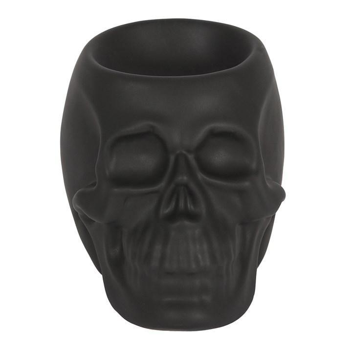 Matte Black Skull Head Oil Burner - The Soap Gals