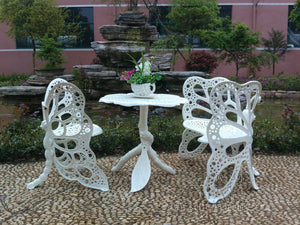4-piece butterfly cast aluminum dining chair and table patio furniture garden furniture Outdoor furniture
