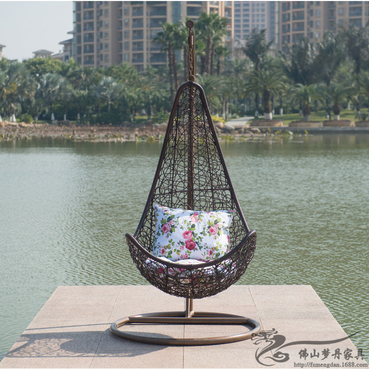 Leisure relaxation Rattan cacolet chair and  casual outdoor furniture balcony garden rattan cacolet colorful LT04