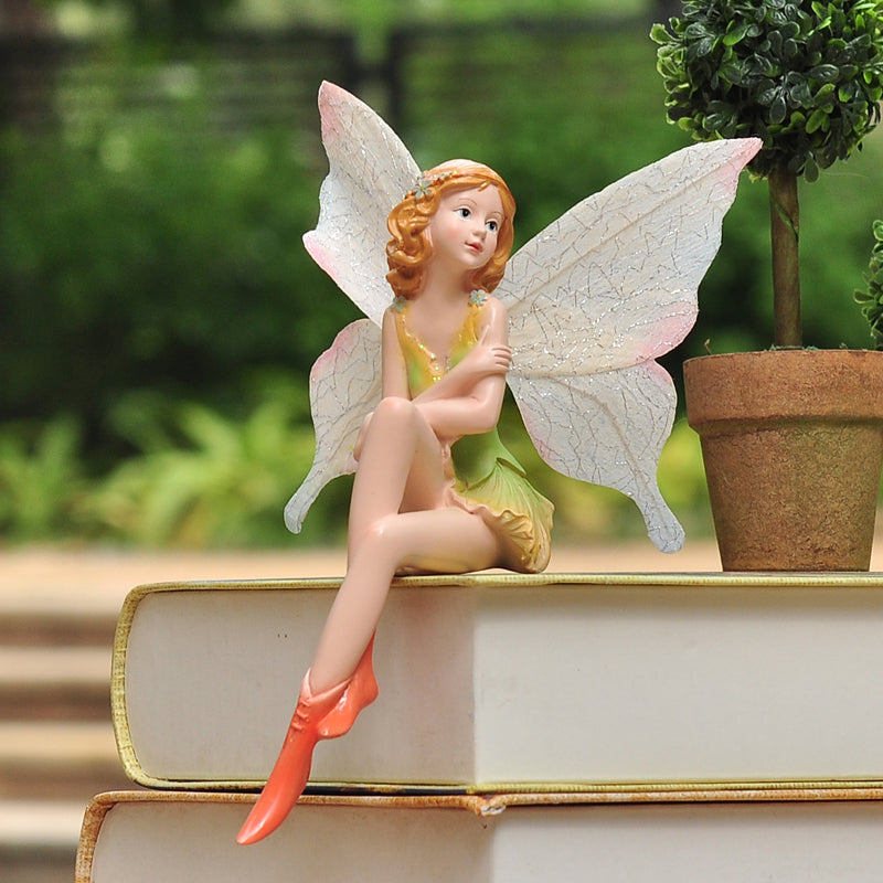 Smallsweet Resin Pastoral Fairy Figurines & Miniatures Home Decoration Accessories Vintage Home Decor Fairy Garden Miniatures