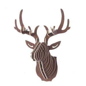 Wooden Deer Elk Model Figurine Craft Nordic Style Kids Decoration Hanging Ornaments Home Decoration Accessories L50