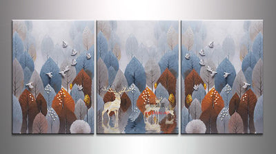 Modular Pictures 3 Panel Canvas Oil Painting Wall Art Picture Home Decoration Pictures For Living Room Print Paintings No Frame