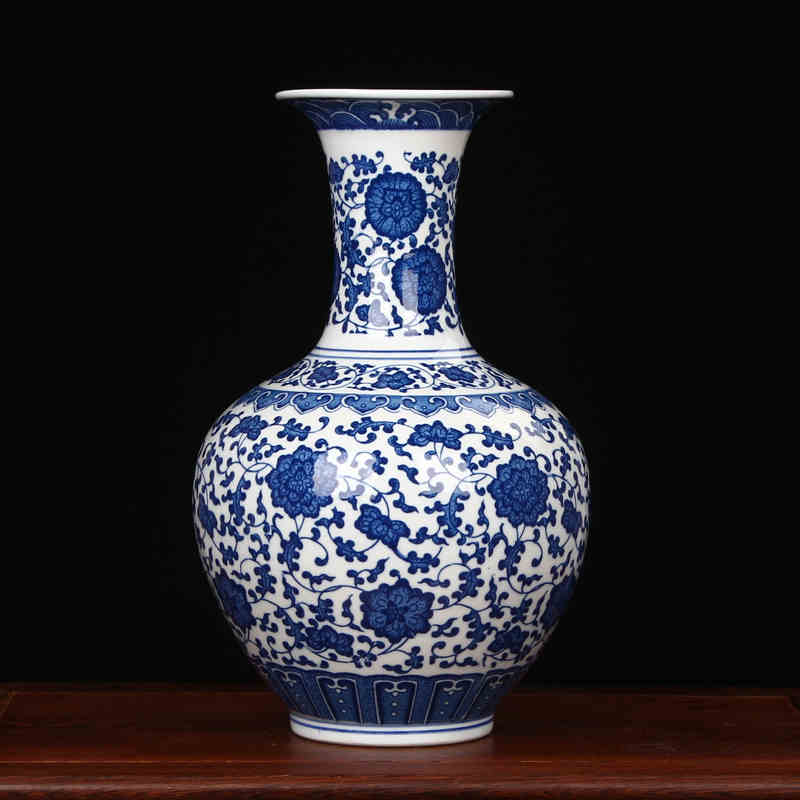 Jingdezhen Porcelain vase chinese ceramic vase China flower pot vase modern Chinese crafts blue and white home decor vase