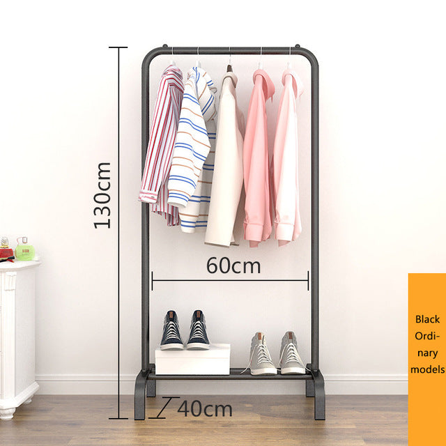 Single rod type drying rack Simple windproof drying rack Indoor and balcony Floor-standing clothes rack Household Furniture