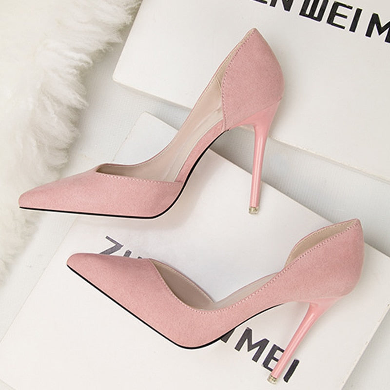0c9897cb058 Women Pumps Fashion High Heels Shoes Black Pink Red Shoes Women Bridal  Wedding Shoes