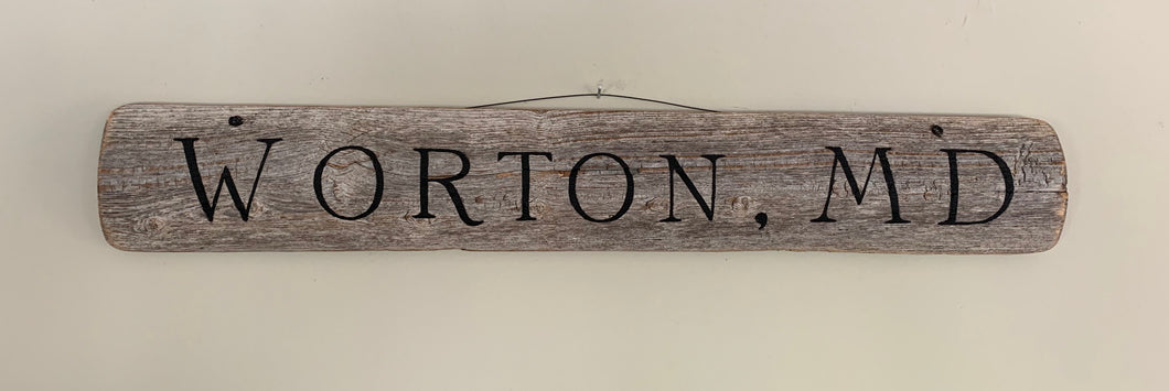 Wood Worton, MD Sign