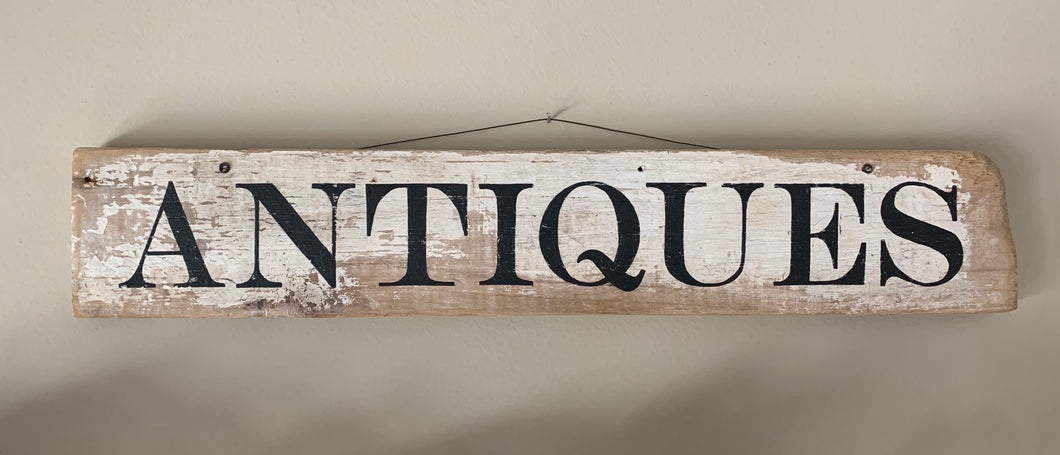 Wood Antiques Sign