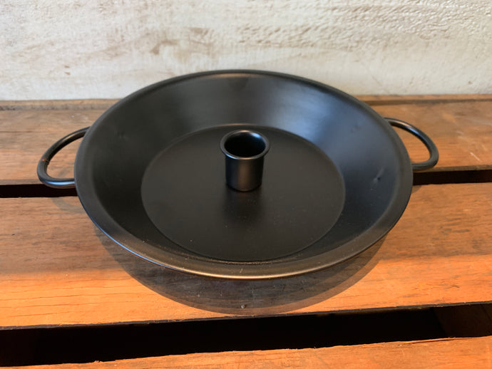 Black Pan Tapered Candle Holder