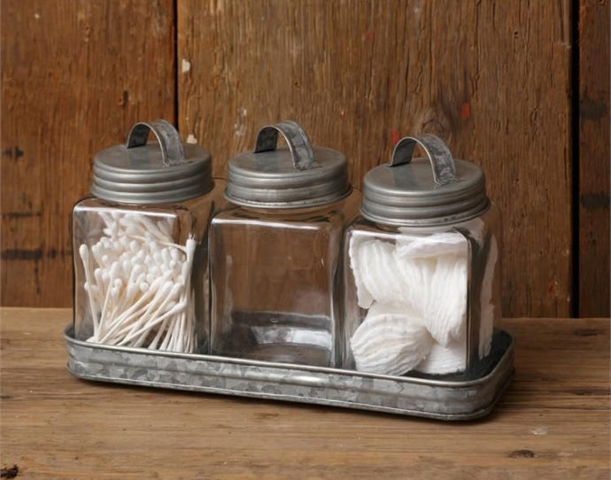 Farmhouse Tray w/ Jars