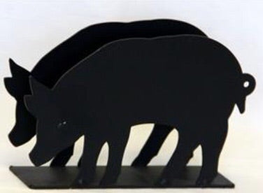Wrought Iron Pig Napkin Holder