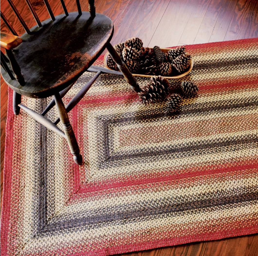 "Braided Jute Rug- Rectangle- 20x30""- Chester"