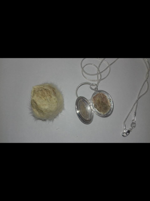 Rat Scrotum Pendants with necklace!