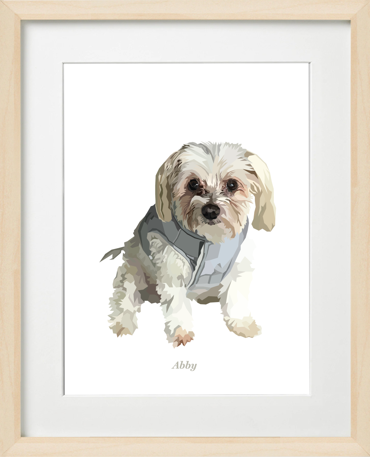 Signature Pawprint - One pet (framed)