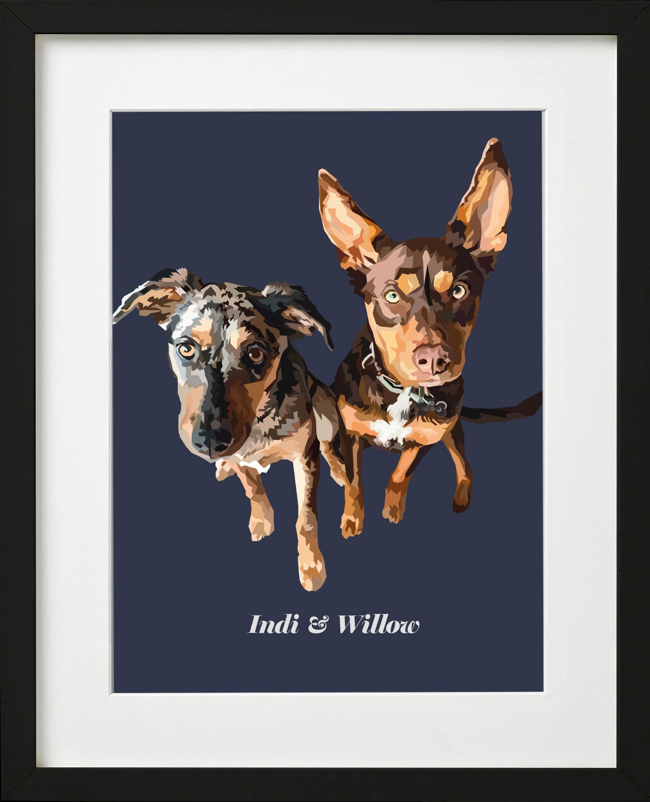 Two Pet Pawprint (framed)