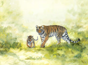 Tiger and Cub Painting Come with me Image