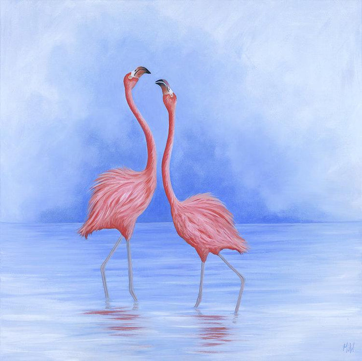 Flamingo Painting Friend Flamingo Dance Image