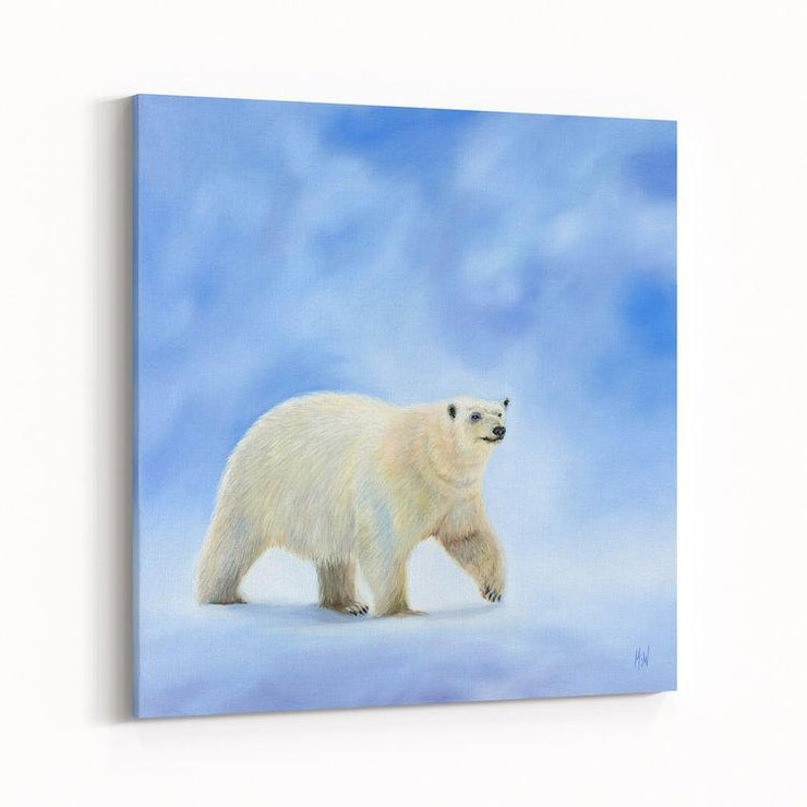 Polar Bear Painting Northbound Canvas on Wall Angled