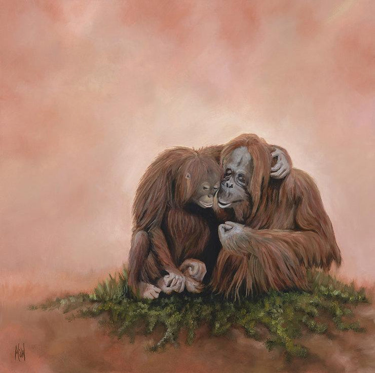 Orangutan Painting The Two of Us Image