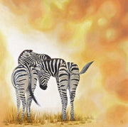Zebra Painting Two of a Kind Image