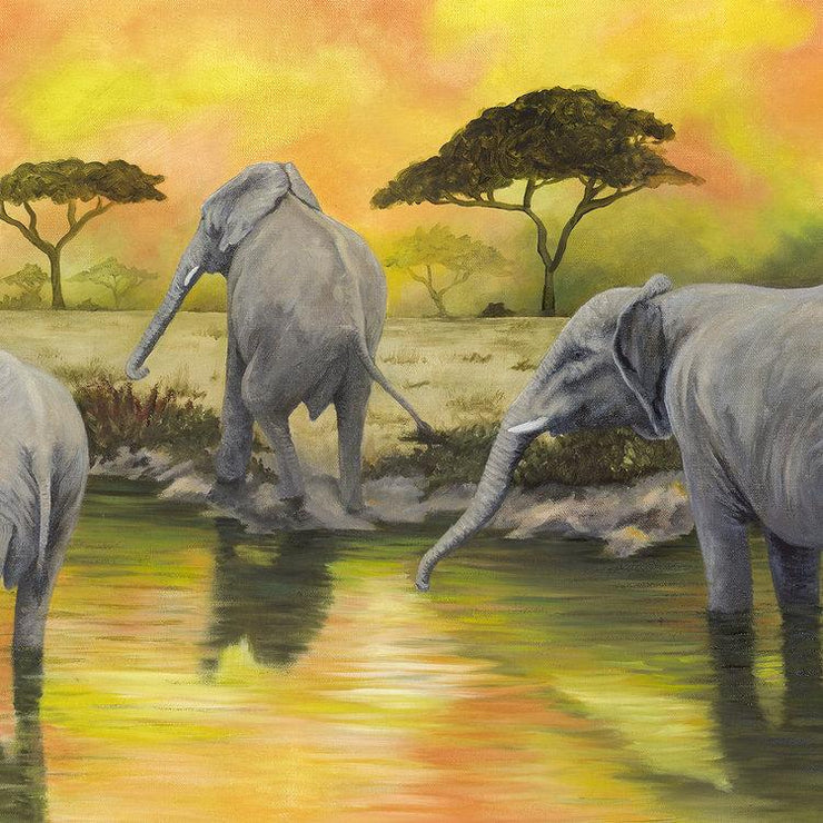 Elephant Painting Ohana Close Up