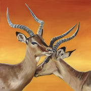 Impala Painting Intertwined Image