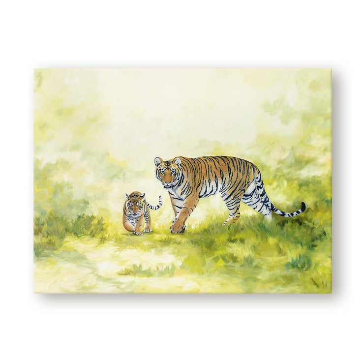 Tiger and Cub Painting Come with me Canvas on Wall