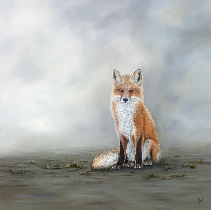 Fox Painting The Waiting Game Image